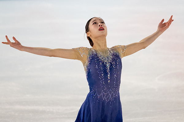 You Young wird erste südkoreanische Siegerin im Eiskunstlauf bei Jugendolympiade