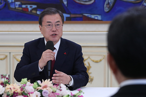 Moon Stresses Alliance with US for Peace on Korean Peninsula