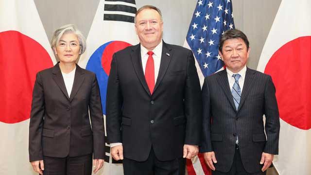 Глава МИД РК Кан Гён Хва встретилась со своими коллегами из США и Японии