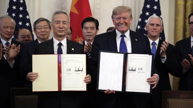الصين والولايات المتحدة توقعان اتفاقية `المرحلة الأولى`