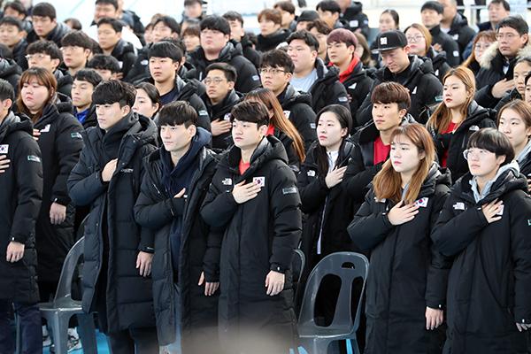 韓国代表選手村で東京五輪に向けた公式練習がスタート