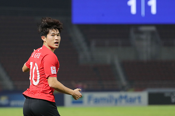 韩国队2-1战胜约旦队 晋级U23亚洲杯四强
