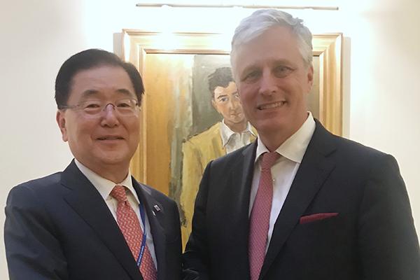 Washington reconfirme son soutien aux projets de coopération intercoréenne