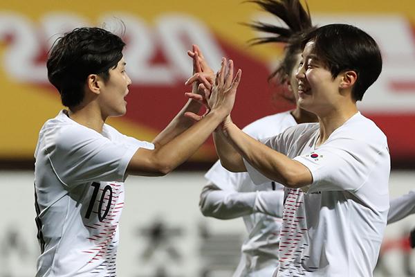 Bóng đá nữ Hàn Quốc thắng đậm 7-0 trước Myanmar trong vòng loại cuối cùng Olympic Tokyo