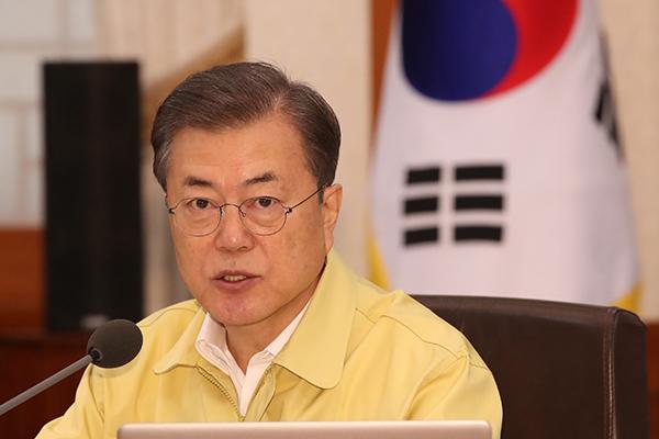 Presiden Moon Komitmen Atasi Wabah COVID-19 Melalui Kerja Sama dengan Pebisnis Utama Korsel