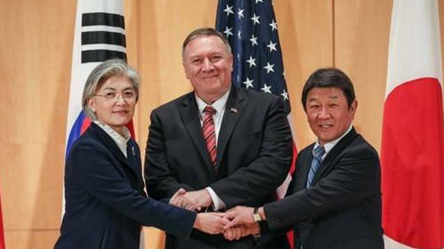 В Мюнхене состоялась встреча глав МИД РК, США и Японии