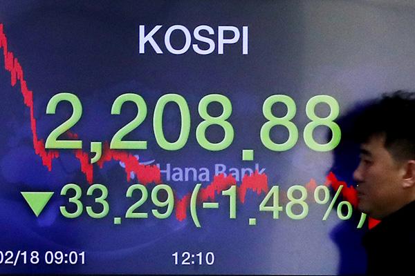 El KOSPI cierra a la baja