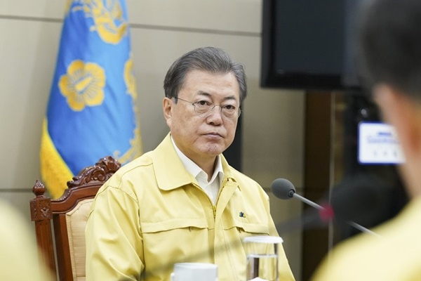 Covid-19 : Moon Jae-in et Chung Sye-kyun font le point sur la situation