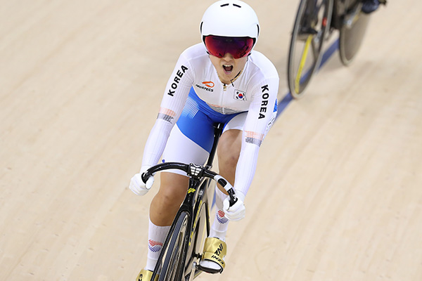 Bahnradsportlerin Lee Hye-jin siegt dreifach bei nationalem Wettbewerb