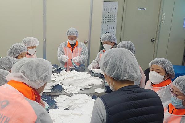 市民団体 政府に開城工業団地でのマスクの生産を訴え