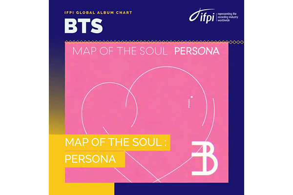 IFPI : « Map of the Soul : Persona » de BTS a été le 3e album le plus vendu au monde en 2019