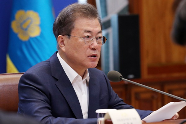 الرئيس مون يجدد عزمه على حماية الشركات الكورية من تداعيات فيروس كورونا الاقتصادية