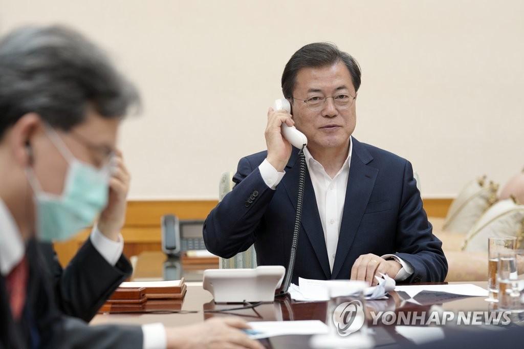 韩美首脑通话 讨论共同抗击新冠疫情方案