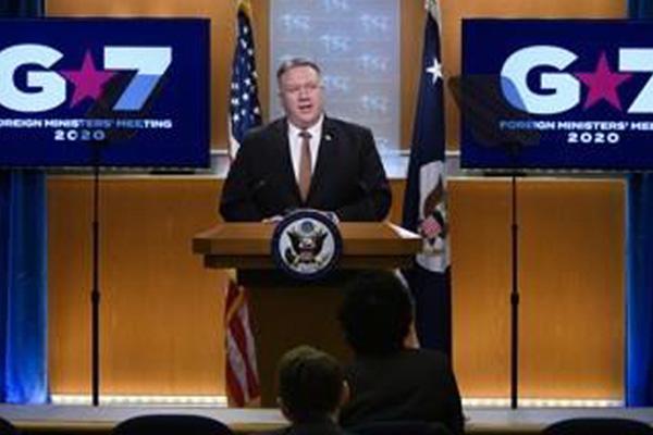 폼페이오, G7에 북 비핵화 협상 복귀 촉구...중국 비판 이어가