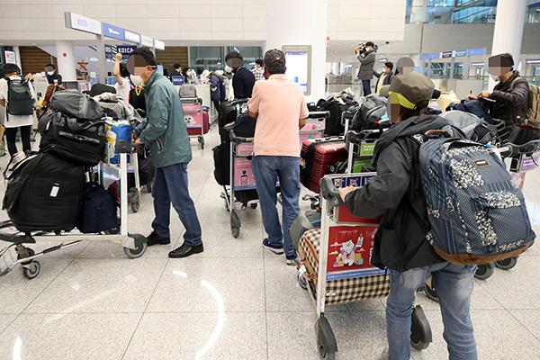 عودة 198 كوريا من بيرو  على متن طائرة مستأجرة