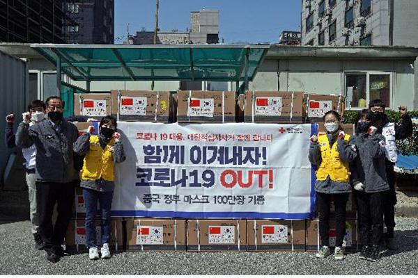 中国 韓国にマスク100万枚追加支援