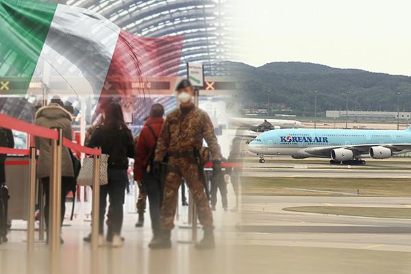 Công dân Hàn ở Ý và châu Phi lần lượt về nước tránh dịch corona-19