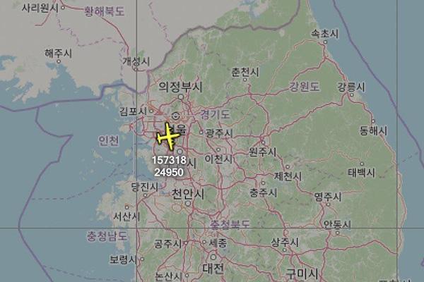 Американский самолёт-разведчик вновь пролетел над Корейским полуостровом
