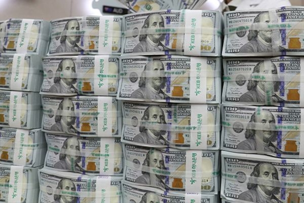 3月韩国外汇储备4002亿美元 有价证券减少136亿美元