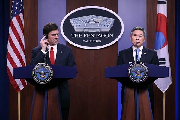 Verteidigungsminister Südkoreas und der USA sprechen über Stationierungskosten