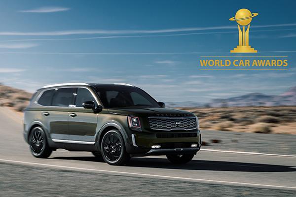 السيارة تيلورايد من كيا تفوز بجائزة سيارة العام على مستوى العالم