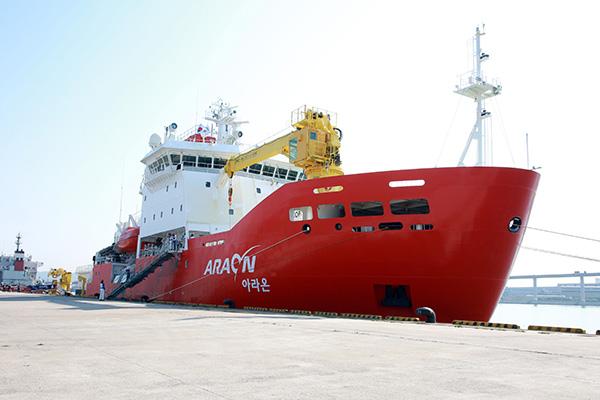 砕氷研究船「アラオン」139日間の航海終え帰還 南極で海底地震計設置