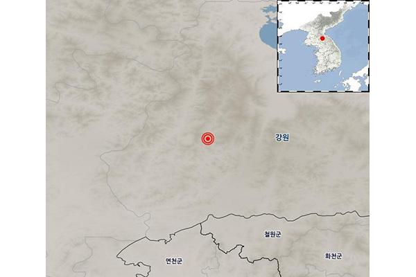 北韩江原道平康11日发生3.8级地震 韩首尔等地有震感
