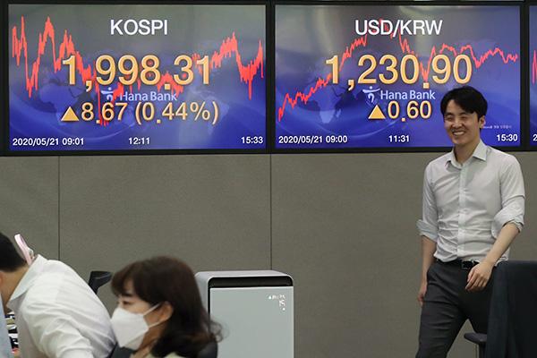 6月2日主要外汇牌价和韩国综合股价指数