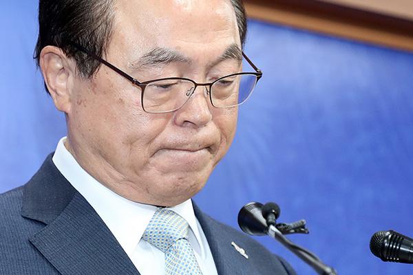 오거돈 비공개 소환…성추행 혐의 등 조사
