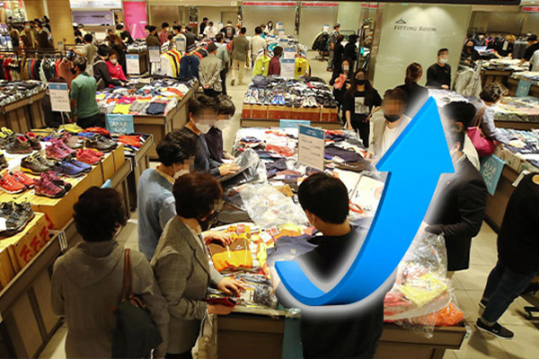 新冠疫情趋缓 韩消费心理时隔4个月止跌回升