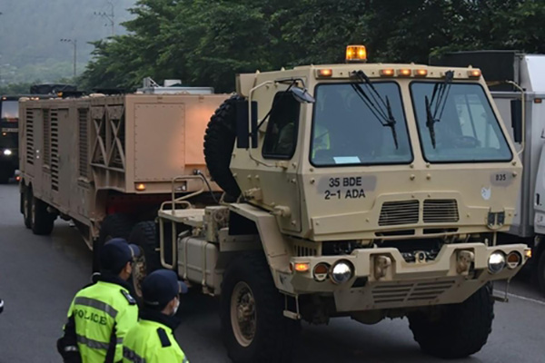 S. Korea Provides Ground Support for THAAD Base amid Protests