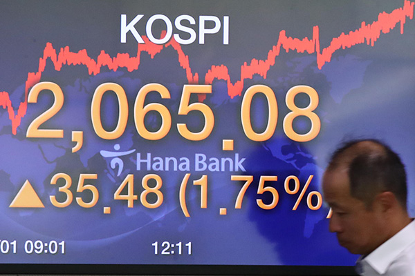 Kospi startet mit Gewinnen in die Woche
