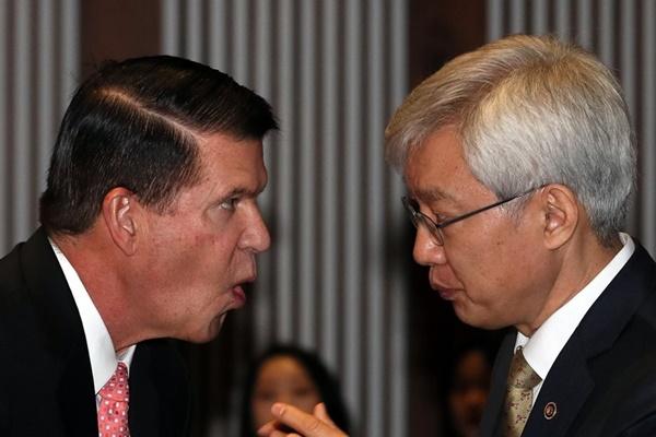 미, 한국에 '반중국 경제블록' 설명하며