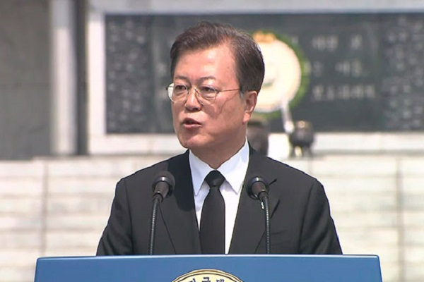 Moon: Creating a Korean Peninsula Free of War is Responsibility of State