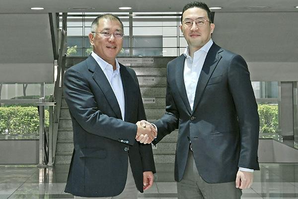 Batteries de véhicules électriques : rencontre inédite entre les dirigeants de Hyundai Motor et LG