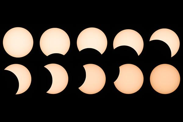 Gerhana Matahari Sebagian Terlihat Jelas di Korsel Minggu Kemarin