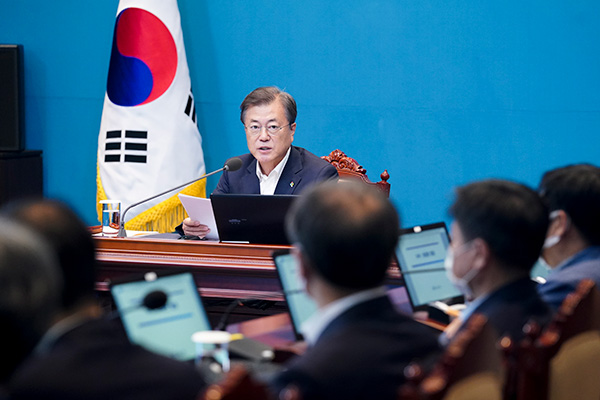 Moon Urges Aggressive Response to Global Supply Chain Crisis