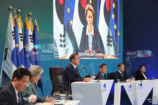 Президент РК провёл встречу с руководством ЕС