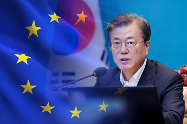 文在寅与欧盟领导人举行视频会谈 商定为实现韩半岛和平加强合作