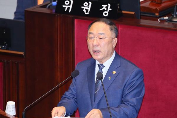 """홍남기 """"추경 통과시 주력기업 지켜내고 640만명 이상 수혜"""""""