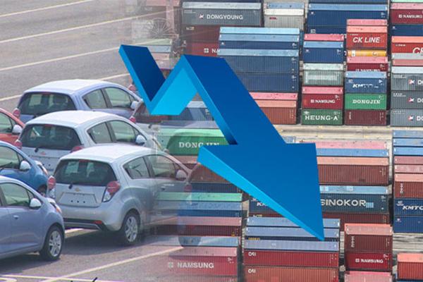 7月前十天韩国出口同比减少1.7%