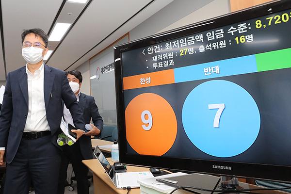 Nächstjähriger Mindestlohn steigt um 1,5 Prozent auf 8.720 Won