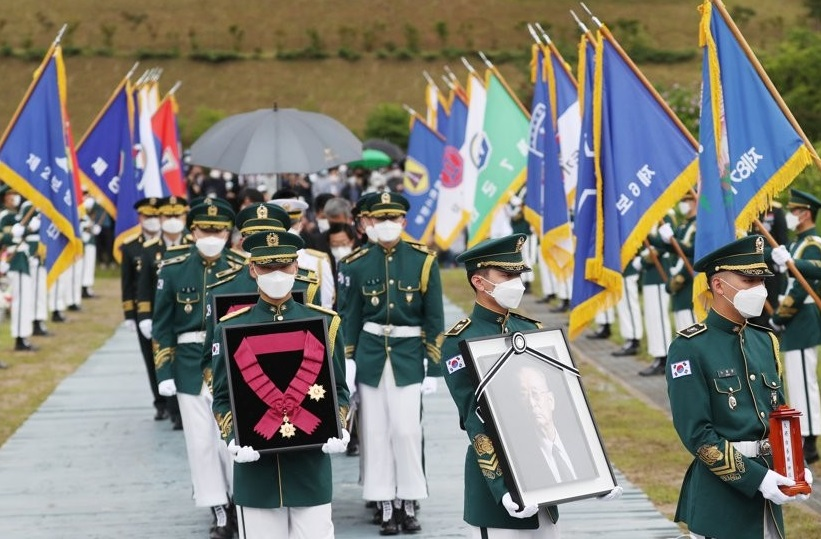 Upacara Pemakaman Pahlawan Perang Korea, Paik Sun-yup Telah Diadakan
