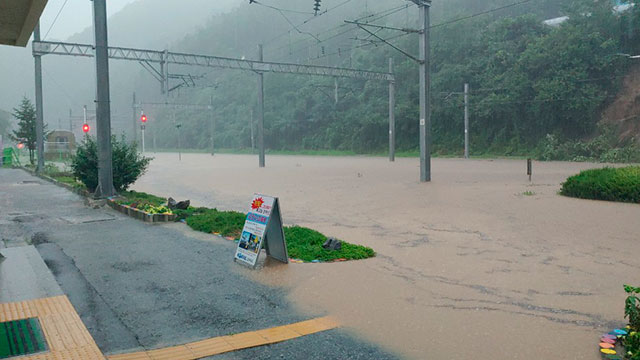 Torrential Rains Disrupt Train Services