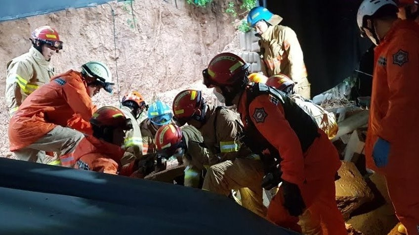 Mudslide in Pyeongtaek Kills 3 Plant Workers, Injures Another