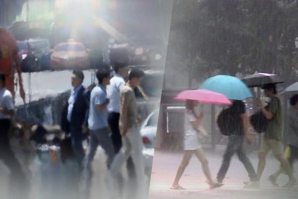 Jueves caluroso y con lluvias