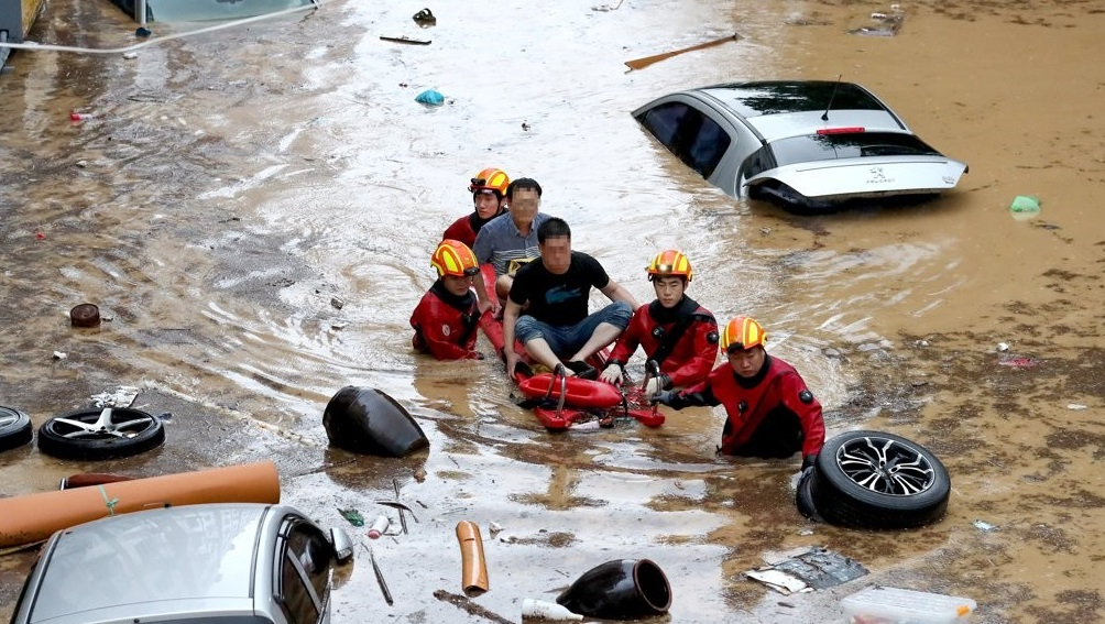 Torrential Rain Hits Central S. Korea, Killing at Least 12 People