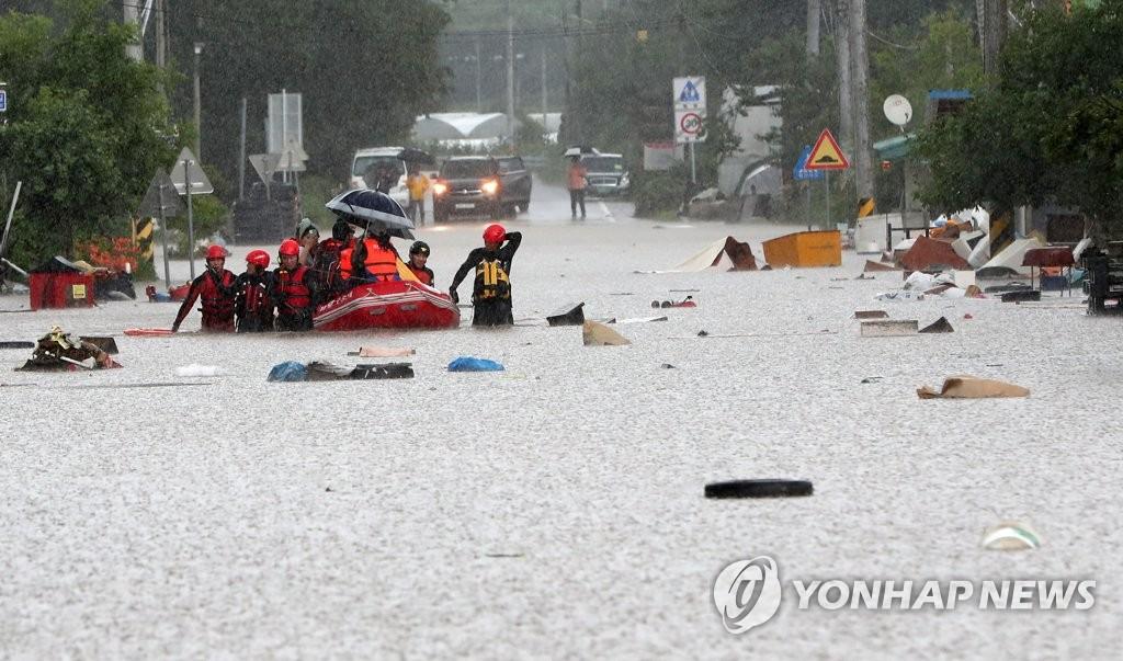 강원 닷새간 700㎜ 물폭탄에 철원 한탄천 범람… 오후 6시 10분 연천군 일대 홍수주의보 발령