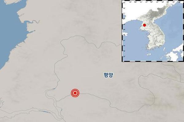 북한 황해북도 부근 지역에서 규모 2.0 지진