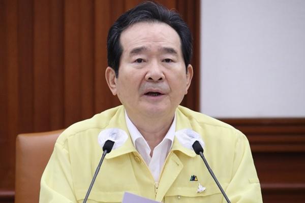 丁世均指示尽快研讨将忠清南北道和京畿道指定为特别灾区